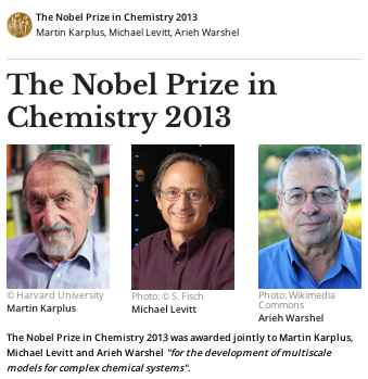 the nobel prize in chemistry 2013 to computational biology
